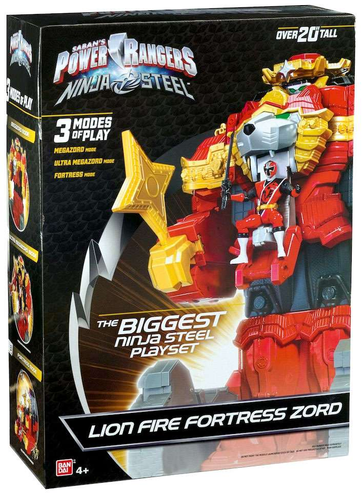 Power Rangers Ninja Steel Lion Fire Fortress Zord Playset by