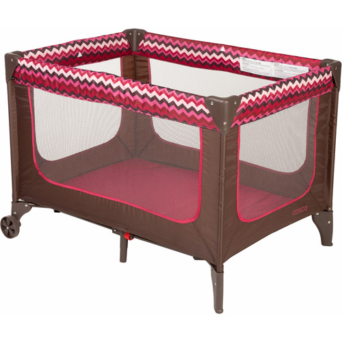 Cosco Funsport Play Yard, Chevron Raspberry