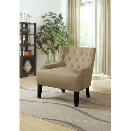 Strange Poundex Bobkona Ansley Microfiber Accent Chair Stone Caraccident5 Cool Chair Designs And Ideas Caraccident5Info