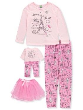 c744290b74 Product Image Dollie   Me Girls  3-Piece Pajama Set with Doll Outfit