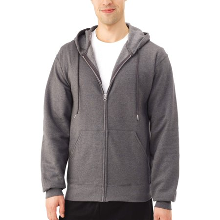 Fruit of the Loom Mens and Big Mens Eversoft Fleece Full Zip Hoodie Jacket, up to Size 3XL