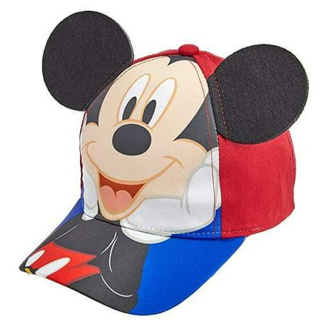 Disney Mickey Mouse Cotton Baseball Cap Hat w/ EARS, Children, Kids, Age - Mickey Mouse Ears Hat