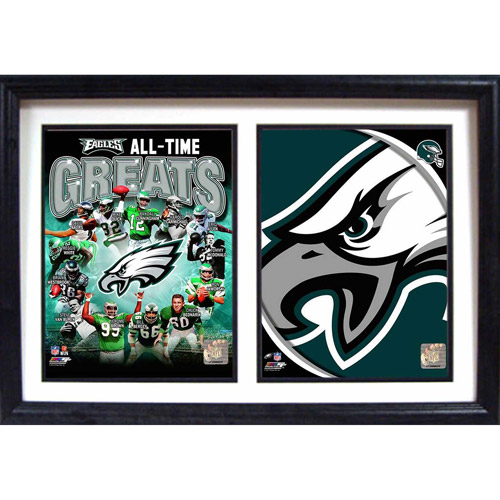 "NFL Philadelphia Eagles Greats 12"" x 18"" Double Frame"