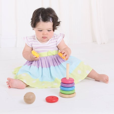 Wooden Toy Rings - BigJigs Baby My First Rainbow Stacker