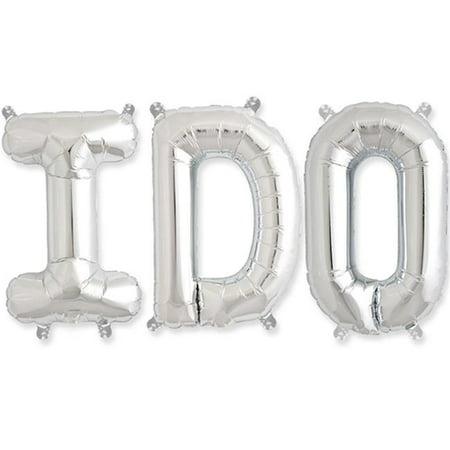 16 in. I Do Balloon Kit, Silver (Do Balloons)