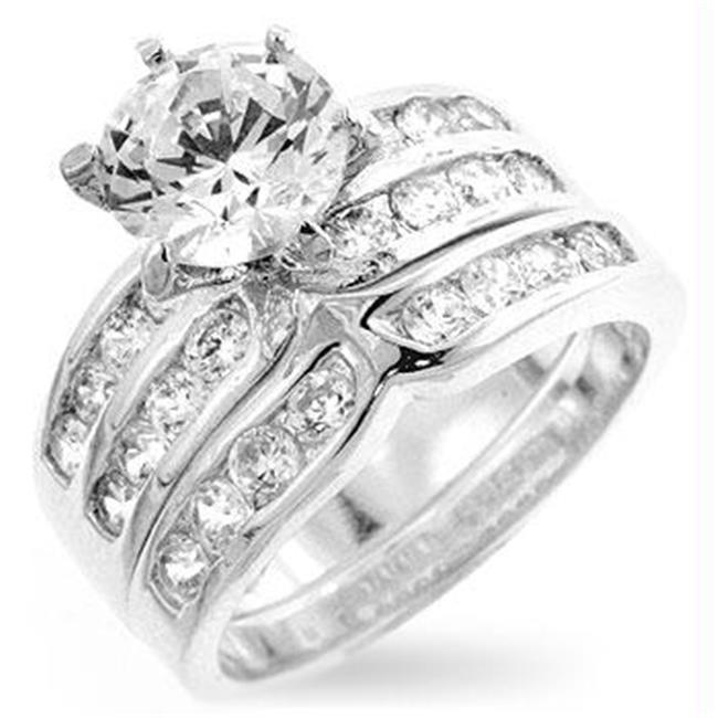 Formal Silver Engagement Set, <b>Size :</b> 06