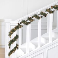 Holiday Time Prelit Green Liberty Cashmere Artificial Christmas Garland, 18 ft