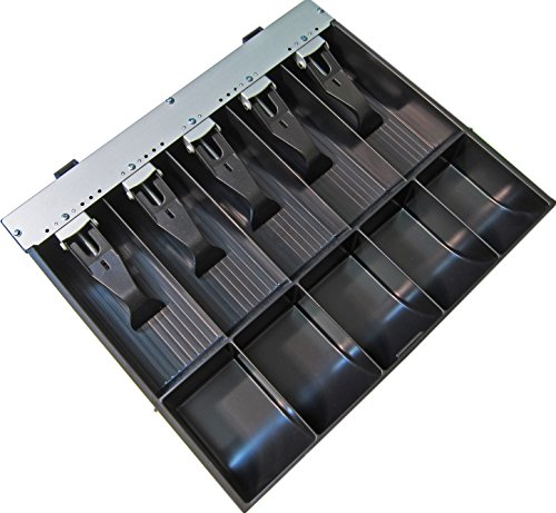 """APG VPK-15B-2A-BX Vasario Series Standard-Duty ABS Plastic Till for Cash Drawer, 5 Bill Compartments, 5 Coin Compartments, 14.2"""" x 2.35"""" x 12.05"""""""" - Pack of 1"""
