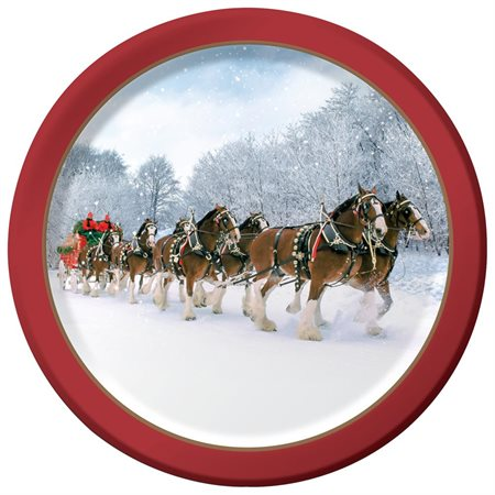 Happy Birthday 'Budweiser Clydesdales' Small Paper Plates (8ct)