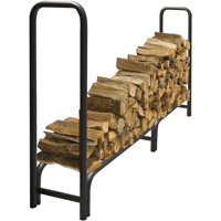 pleasant hearth 8 heavy duty log rack ls938 96 - Firewood Rack