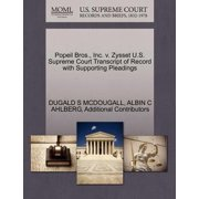 Popeil Bros., Inc. V. Zysset U.S. Supreme Court Transcript of Record with Supporting Pleadings