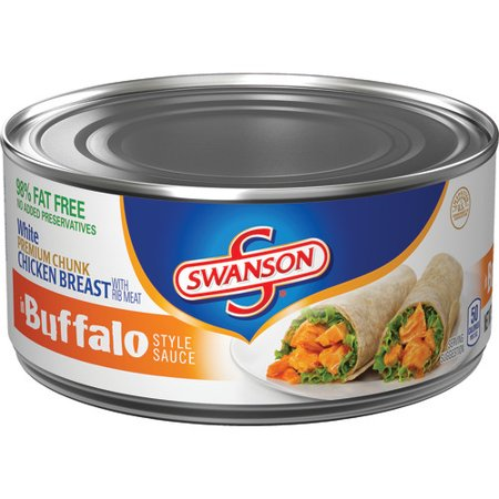 (2 Pack) Swanson White Premium Chunk Chicken Breast in Buffalo Style Sauce, 9.75 -