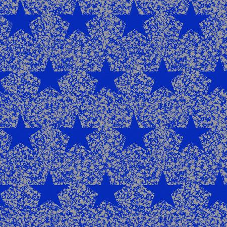 Patch Glitter Star Blue Fabric, per Yard - Blue Star Fabric