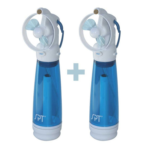 Sunpentown PersonalHand-Held 2-Pack Misting Fan, White, SF-241WM
