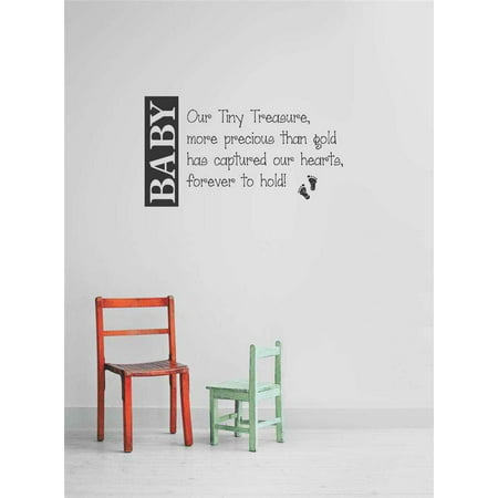 Top Selling Decals   Prices Reduced S   Stickers   Baby Our Tiny Treasure  More Precious Than Gold Has Captured Our Hearts  Forever To Hold  Quote10x20