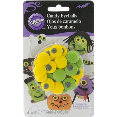 Wilton Decorating Candy, Green & Yellow Eyeballs, 24 ct (Halloween Food Grapes Eyeballs)