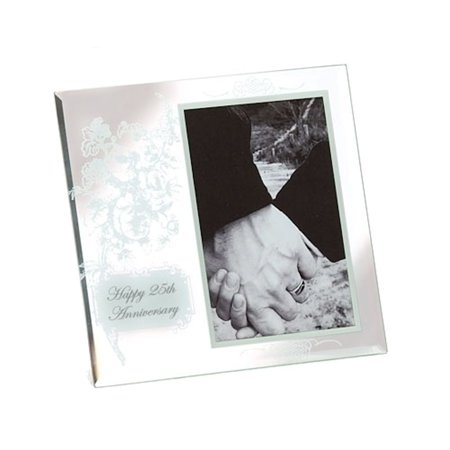 Roman 60275 25th Anniversary Glass Photo Frame 2000 Years Old Roman Glass