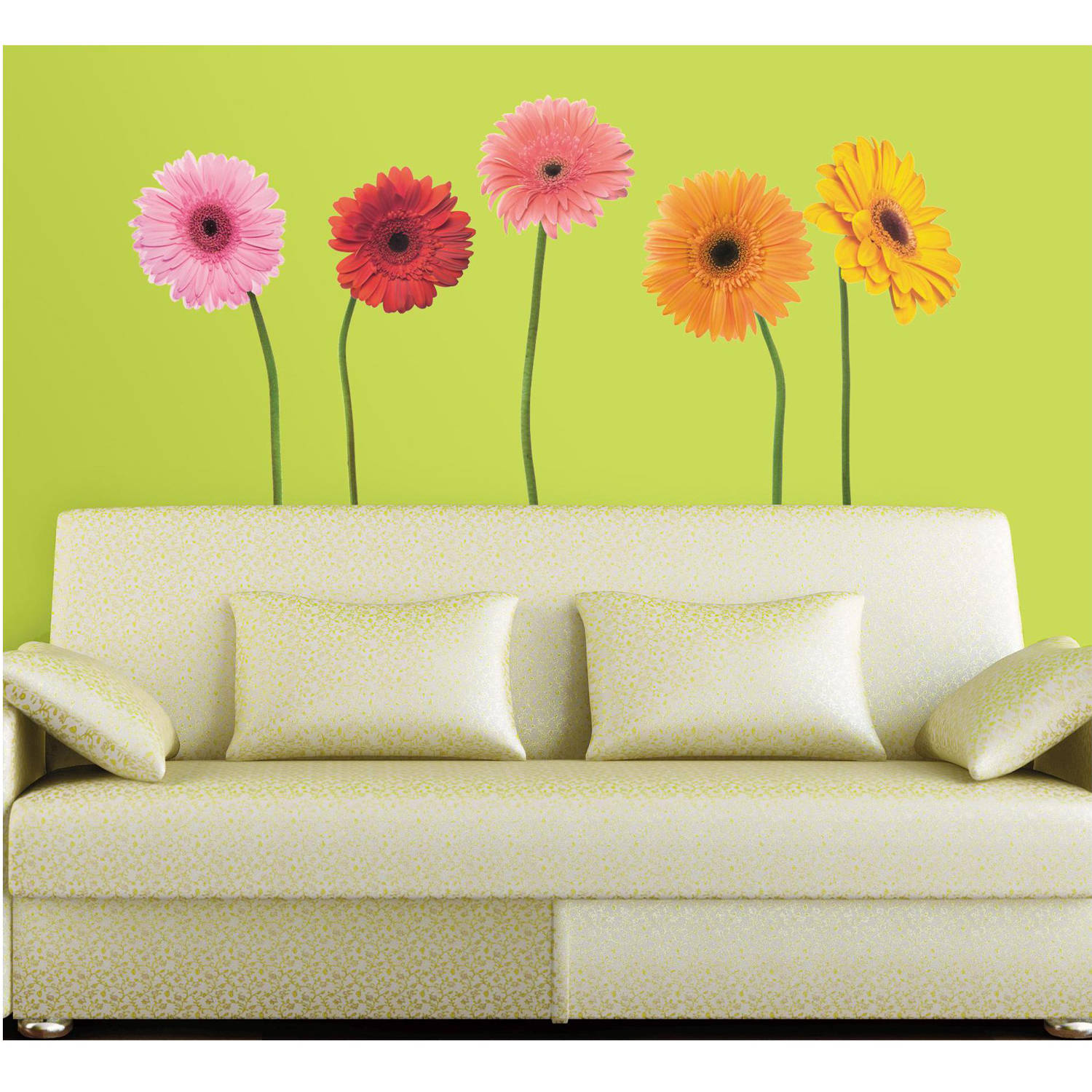 RoomMates Gerber Daisies Peel and Stick Wall Decals