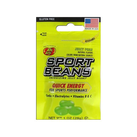 - Jelly Belly Sports Beans 1oz Juicy Pear