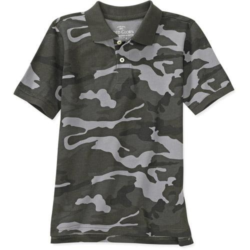 Faded Glory - Boys' Camo Polo Shirt