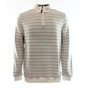 tasso elba mens french rib 1/4 zip mock turtleneck sweater taupe m
