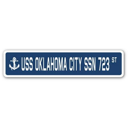 USS OKLAHOMA CITY SSN 723 Street Sign us navy ship veteran sailor gift](Halloween Fun In Oklahoma City)