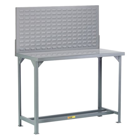 Little Giant Fixed Height Welded Steel Workbench with Pegboard or Louvered