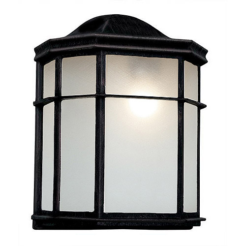 "BelAire Patio Pocket 10"" Outdoor Light, Black"