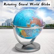 7 inch 360 Degree  Rotating World Globe Earth Ocean Geography Educational Desktop Modern Style Accent Decor for Home, School, Office