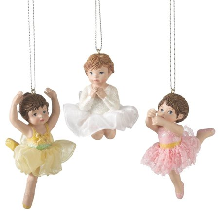 35 yellow glittered prima ballerina ballet dance christmas ornament