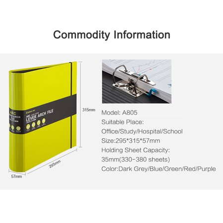 Comix A4 Lever Arch File 2-Ring Binder File Folder Document Organizer for Business Office School Student Teacher Stationery Supplies