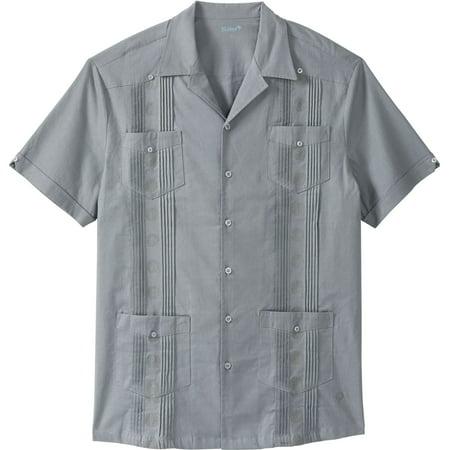 Kingsize Men's Big & Tall Short-sleeve Linen Guayabera -