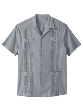 7eebdcdb0 Product Image Kingsize Men's Big & Tall Short-sleeve Linen Guayabera Shirt