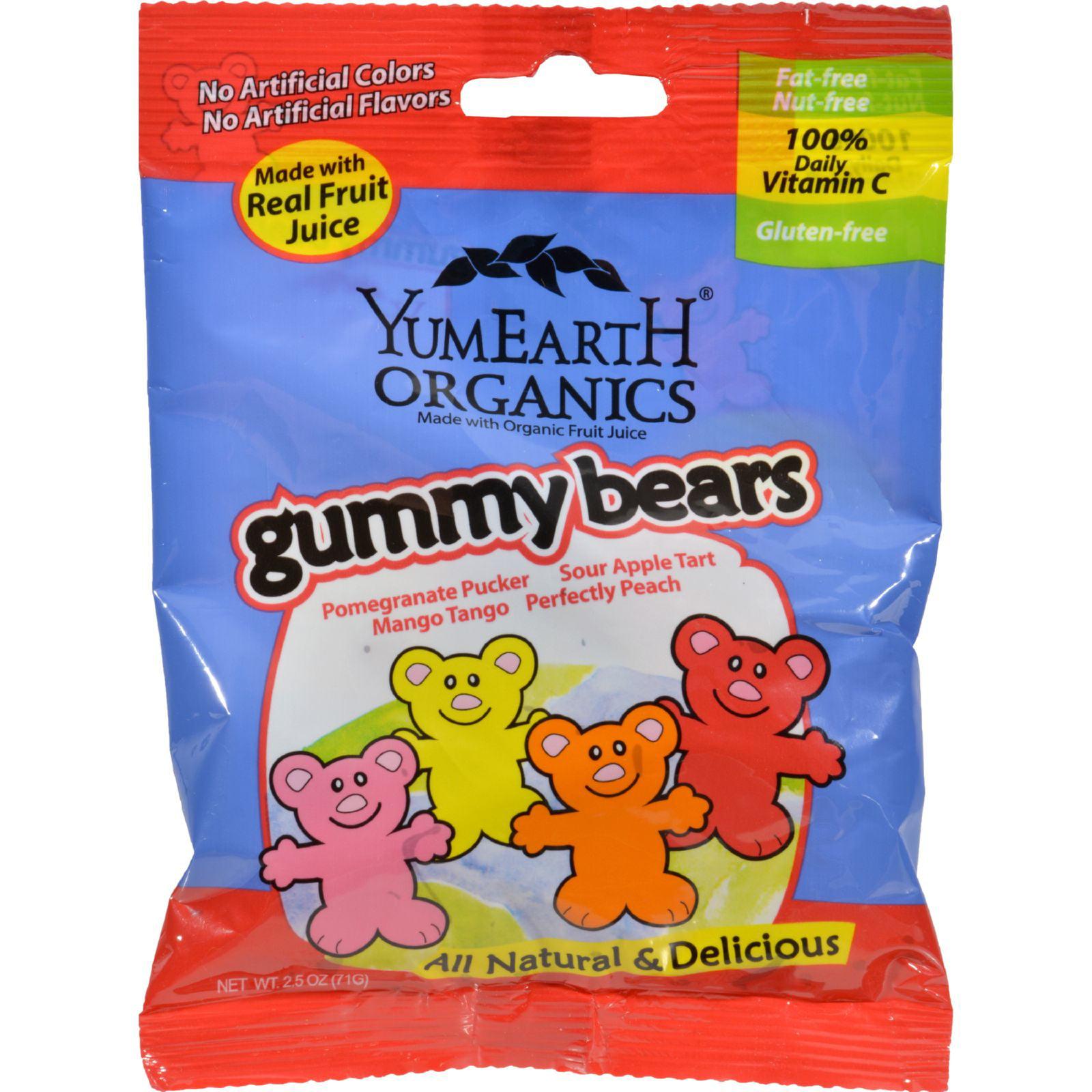 Yummy Earth Organic Gummy Bears - Case of 12 - 2.5 oz