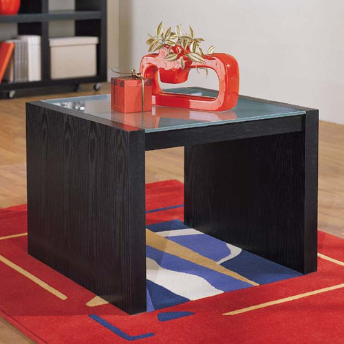 Organize It All Dusk Coffee Table with Glass Top