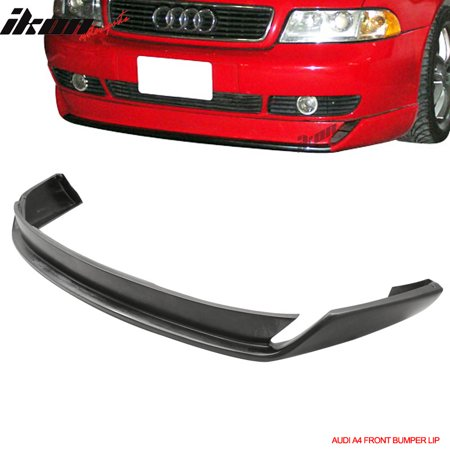 Front Lip Type - Fits 96-01 Audi A4 Type O Style Front Bumper Lip Urethane