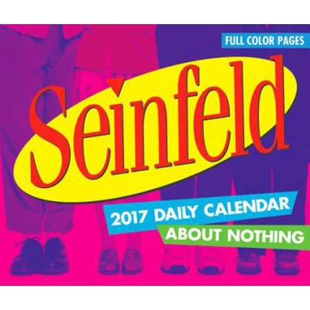 Seinfeld About Nothing Desk Calendar  2017 Nmr Calendars By Nmr Calendars