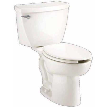 American Standard 2467.100.020 Cadet Right-Height Elongated Two-Piece Pressure-Assisted 1.1 GPF Toilet with 12