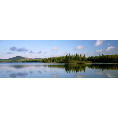 Mount Carleton Provincial Park And Bathurst Lake New Brunswick Stretched Canvas - Ron Watts  Design Pics (26 x 8)
