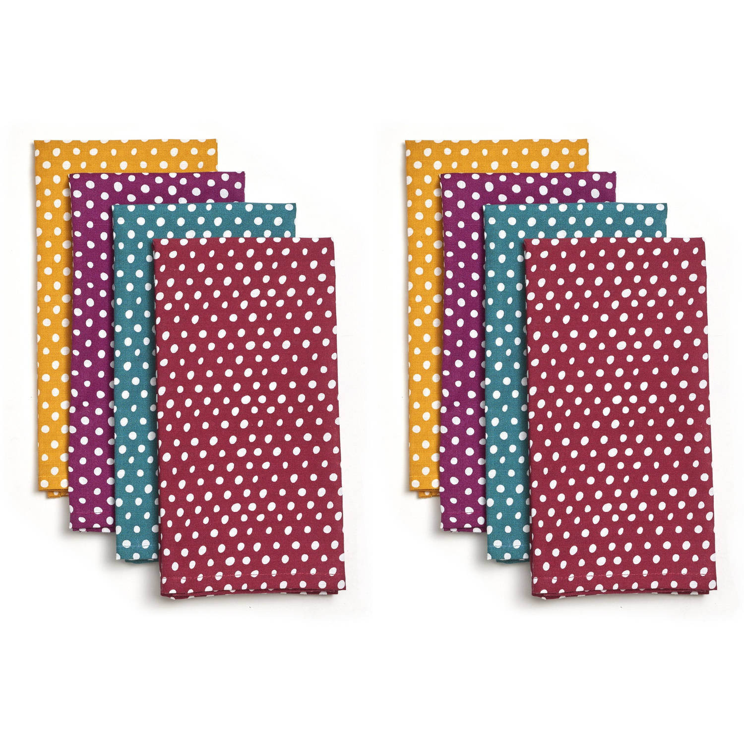 Pioneer Woman Retro Dot Napkins, Pack of 8