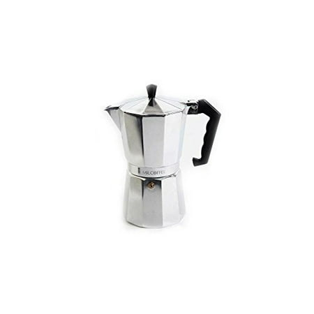 Mr. Coffee 6-Cup Traditional Stove Top Espresso