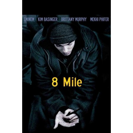 8 Mile Movie Poster Print  27 X 40