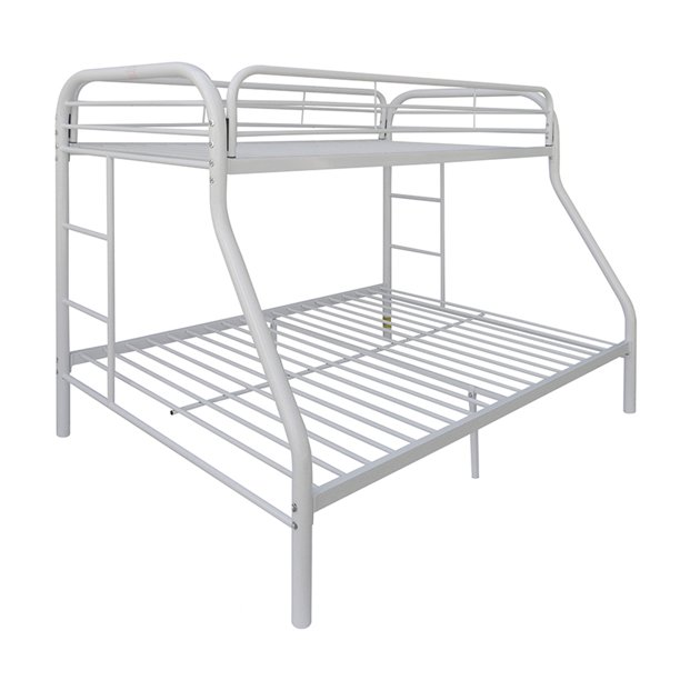Acme Eclipse Industrial Bunk Bed Twin Full White Metal Walmart Com Walmart Com