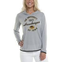 Women's Gray Iowa Hawkeyes Mason Block Pullover Hoodie