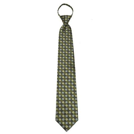 Geometric Pattern Tie (Mens Pre Made Pattern Geometrics Fashion Designer Zipper)