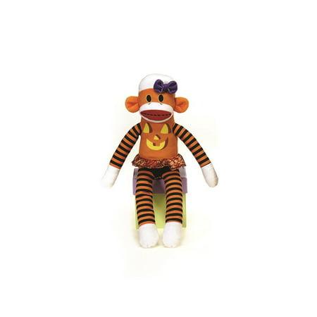 Veil Entertainment Soft Cute Halloween Stuffed Sock Monkeys 14