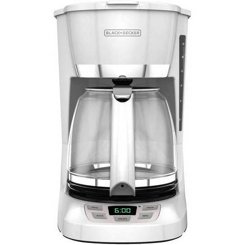 BLACK+DECKER 12-Cup Programmable Coffee Maker, CM1060W