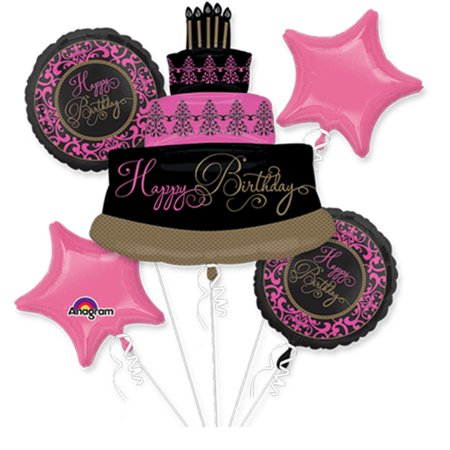 Fabulous Celebration Birthday Theme Foil Balloon Bouquet - Fabulous Birthday