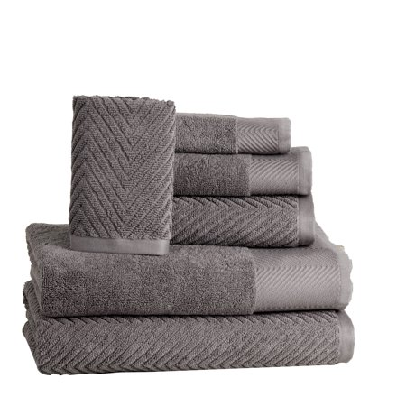 Elegance Spa 100-percent Cotton Jacquard 6-piece Towel Set