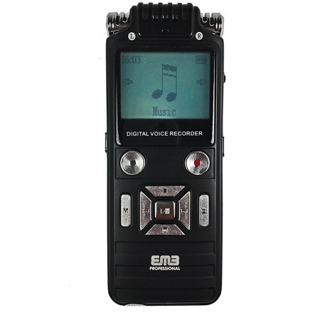 EMB Professional EVR8 8GB Portable Handheld WMA/MP3 Digital Stereo Audio Voice Recorder ()